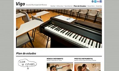 Web da Escola Municipal de Música de Vigo
