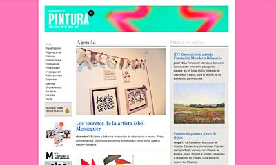 Web Dep. Pintura Universidad Politécnica de Valencia